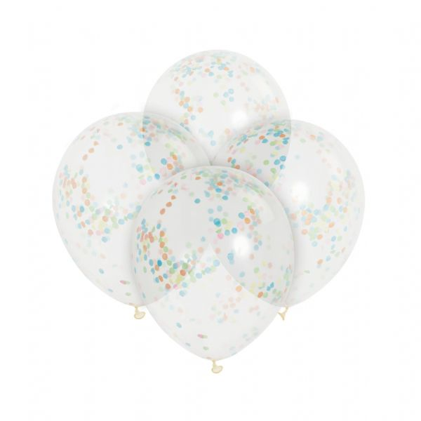 Clear Latex Confetti Multi-coloured